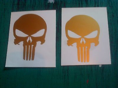2x The Punisher skull decals - 100mm stickers all colours
