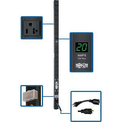 TRIPP LITE PDU Metered 120V 20A 5 15 20R 14 Outlet L5 20P 36 Inch Height 0URM