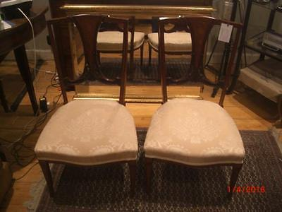 Pair of Edwardian Nursing Chairs With Inlay