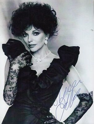 "JOAN COLLINS  - 6"" x 4.5"" Portrait Photograph PERSONALLY SIGNED To DOREEN  F#21"