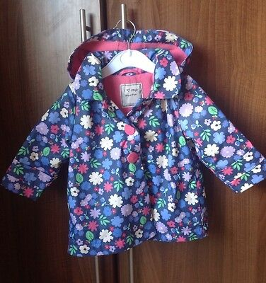 Girls Next Blue/Multi Raincoat 9-12 Months