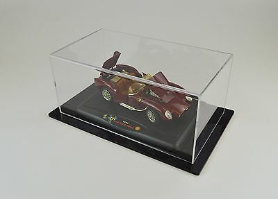 Model Car Display Case 1/18 / 1:18 Scale - Clear case with Black base - Acrylic