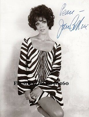 "JOAN COLLINS  - ORIGINAL 10"" x 8"" Photo PERSONALLY SIGNED & UNDEDICATED  F#21"