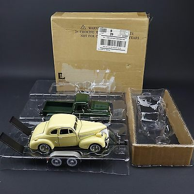 FAIRFIELD MINT 1955 Chevy Pick-Up 1939 Chevrolet Coupe & Trailer Diecast NIB