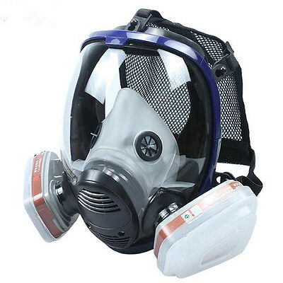 ZW 7 in 1 Painting Spraying Gas Mask Full Face Mask Reusable High-Quality