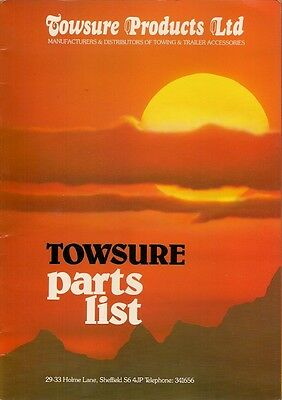 Towsure Towing & Trailer Accessories Late 1980s UK Market Sales Brochure