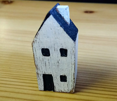 East Of India Rustic Miniture Wooden House Trinket Decoration New Home Gift No 1