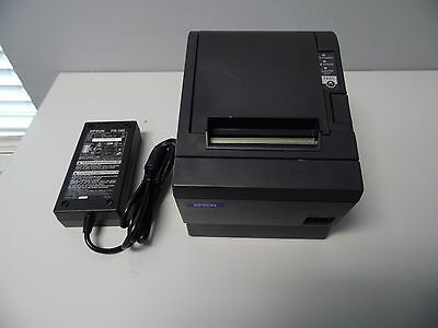 Epson TM-T88IIIP POS Thermal Receipt Printer M129C Parallel w/ Power Supply