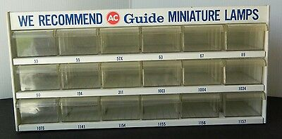 Clean Vintage AC Spark Plug - Guide Lamps Drawer Cabinet Display, USA Made