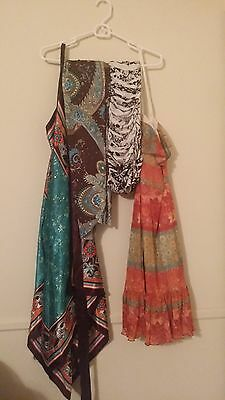 Lot of 4 stretchy summer dresses sizes XS-M and One size