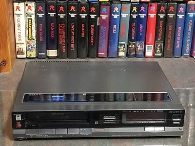 Sony SL-F60AS Betamax, restored slimline mono VCR suits Beta copy to DVD