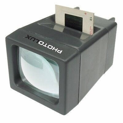 PHOTOLUX SV-2 LED Daylight Desktop Slide Viewer 2x Magnification for 35mm Slides