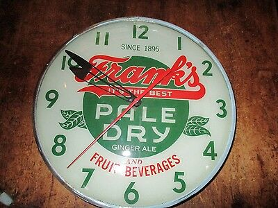 Frank's pale dry ginger ale Pam soda clock