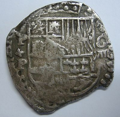 Spanish Colonial 8 Real Cob Potosi Assayer P Bolivia Mint Change Lions Silver
