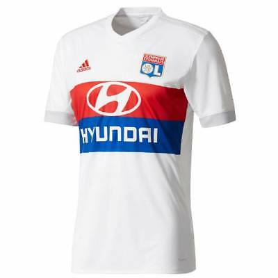 adidas Olympique Lyon Home Shirt 2017/18 - Mens