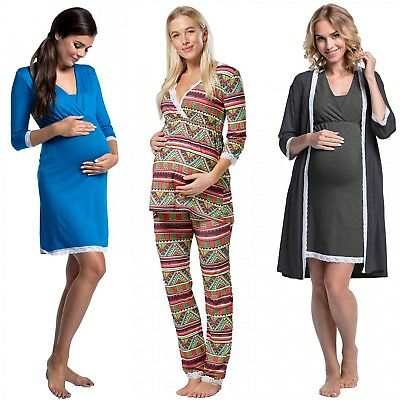 Happy Mama. Women's Maternity Nightie / Pyjamas /Robe SOLD SEPARATELY. 591p