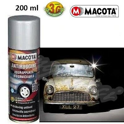 MACOTA Antiruggine Spray Fondo Aggrappante Riverniciabile Vernice Anti Ruggine