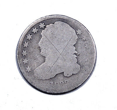 1833 Capped Bust Dime Average Circulated Condition 10c silver