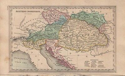 1834 Nice Early Starling Map of Austro- Hungarian Empire
