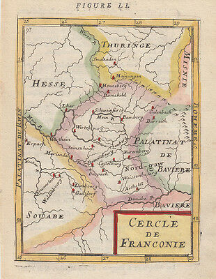 1683 Nice Mallet Map of Franconia, Germany