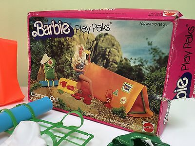 Mattel Vintage Barbie Camping Set Boxed Play Pak 80's