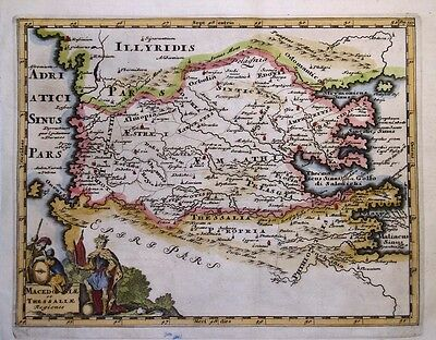 1729 Fine Cluver Map of Macedonia