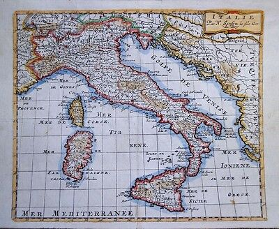 1683 Lovely Sanson Map of Italy
