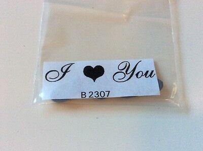 I ❤️ love you words phrase unmounted rubber stamp