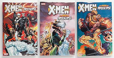 X-Men The Age of Apocalypse Vol. 1 2 & 3 NEW Marvel Graphic Novel Comic Book Lot