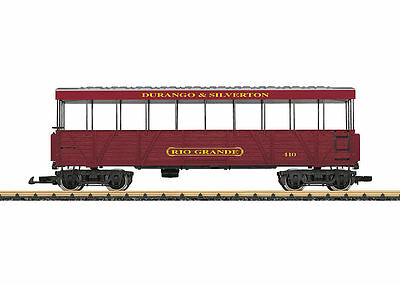 LGB G Gauge D&S Rio Grande Open Air Observation Car #30261 ~ TS