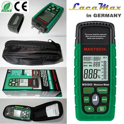 MS6900 Mastech Digital Wood Moisture Temperature Meter Humidity Tester sofort DE