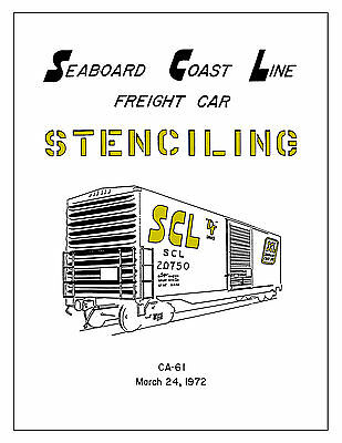 Seaboard Coast Line Freight Car Lettering Stencil Drawing Book SCL