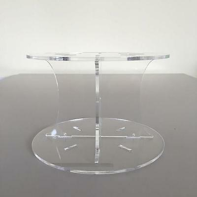 Plain Design Round Wedding/Party Cake Separators - Clear Acrylic