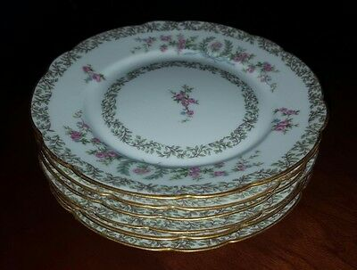6 Antique GDA Haviland Limoges French Porcelain Small Plates
