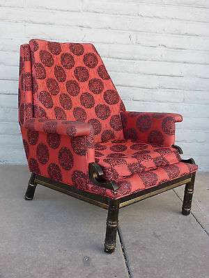 Hollywood Regency Asian Style Lounge Chair JAMES MONT Parzinger Dorothy Draper