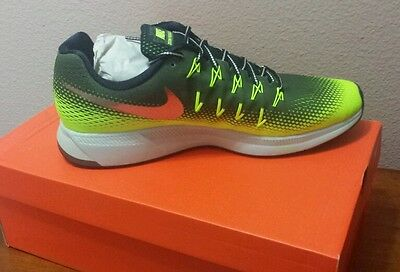 Men's Nike Air Zoom Pegasus 33 Shield Shoes Size 14 Black New With Tags And Box