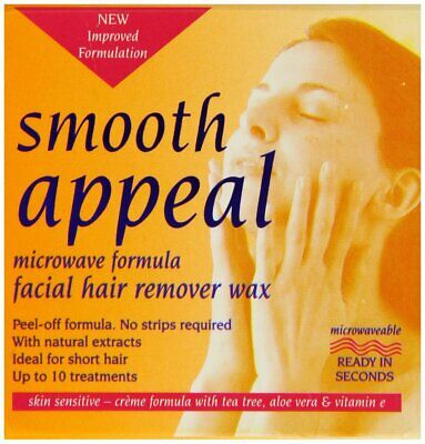 Smooth Appeal 40g Microwave Formula Facial Hair Remover Wax (for Sensitive Skin)