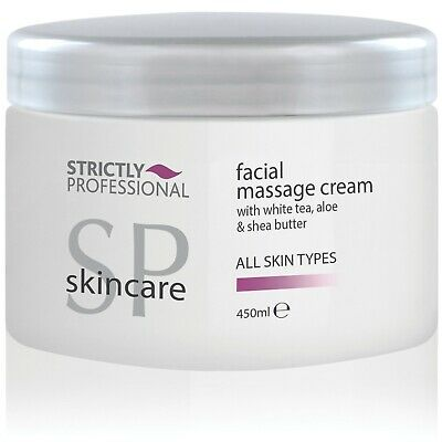 Strictly Professional Facial Massage Cream Aloe Shea Butter All Skin Types 450ml