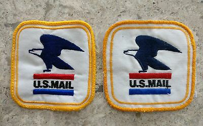 Lot Of 2 VINTAGE USPS POST OFFICE Sew on PATCHes U.S. MAIL Carrier