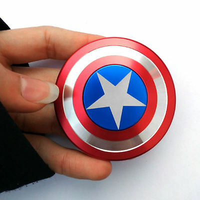 Captain America Shield Fidget Hand Spinner Toy EDC Focus ADHD Autism Kids Gift