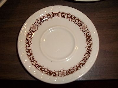 """SYRACUSE CHINA ECONO-RIM Antique Coffee/Tea Cup """"SAUCER"""" Without Cup SIGNED RARE"""