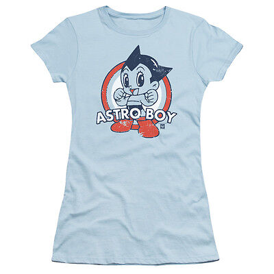 Astro Boy Mighty Atom Manga FLYING PUNCH Logo Licensed Women/'s T-Shirt All Sizes