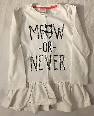 """Gymboree """"Meow Or Never"""" Toddler Girl Long Sleeve 4T"""