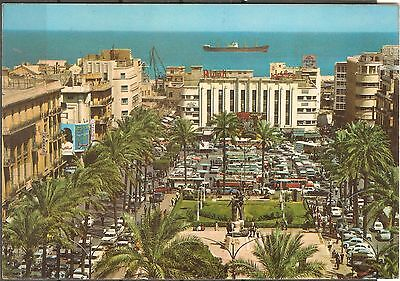 Lebanon Beyrouth Beirut Martyr's Square unused 1960's postcard