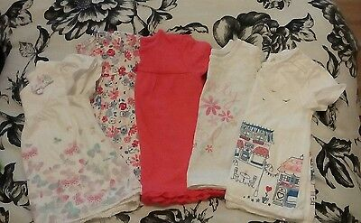 baby girls tshirts x5 6-9 months excellent condition