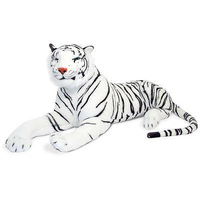 Melissa & Doug Giant Siberian White Tiger - Lifelike Stuffed Animal (over 5 fee