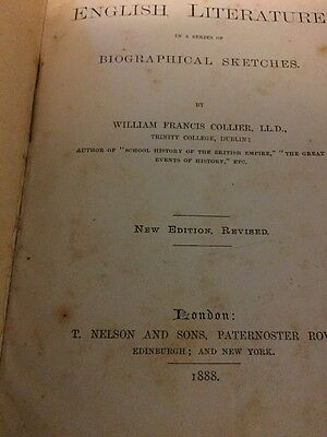 A History of English Literature by William Francis Collier 1888