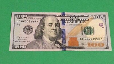 $100 Dollar Currency 2009 Series Star note Circulated One Hundred Dollar Bill
