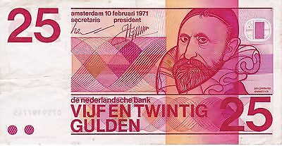 Nice Banknote From Netherlands 25 Gulden Year 1971