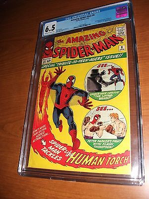 Amazing Spider-Man #8 CGC 6.5 (OW/White) 1st appearance of the Living Brain